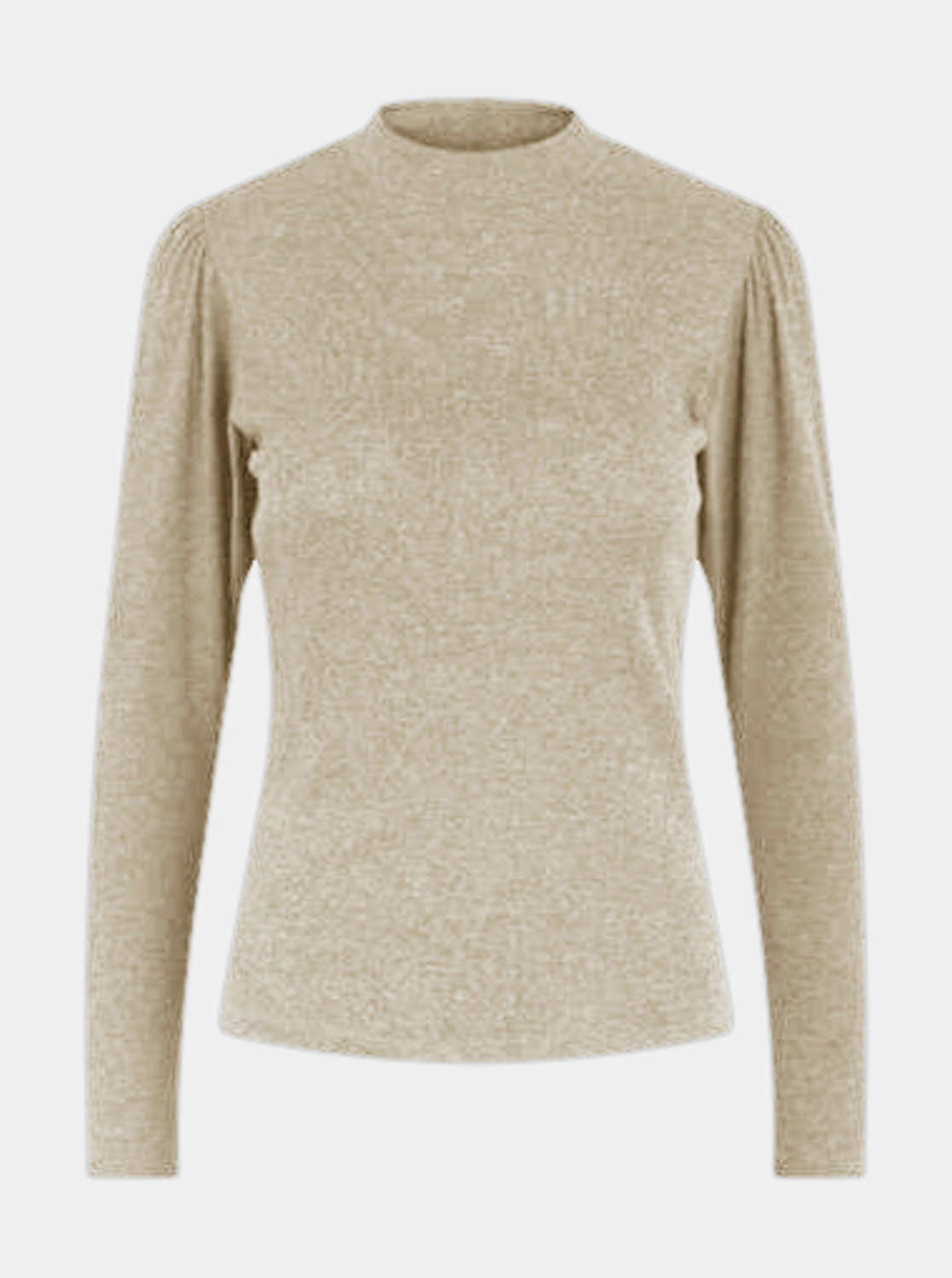 Beige T-shirt with stand-up piece Pieces