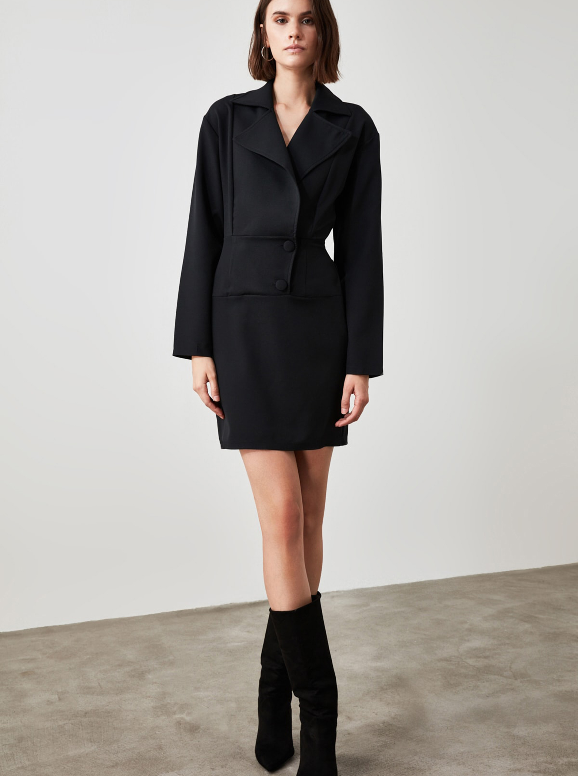 Trendyol black sheath dress