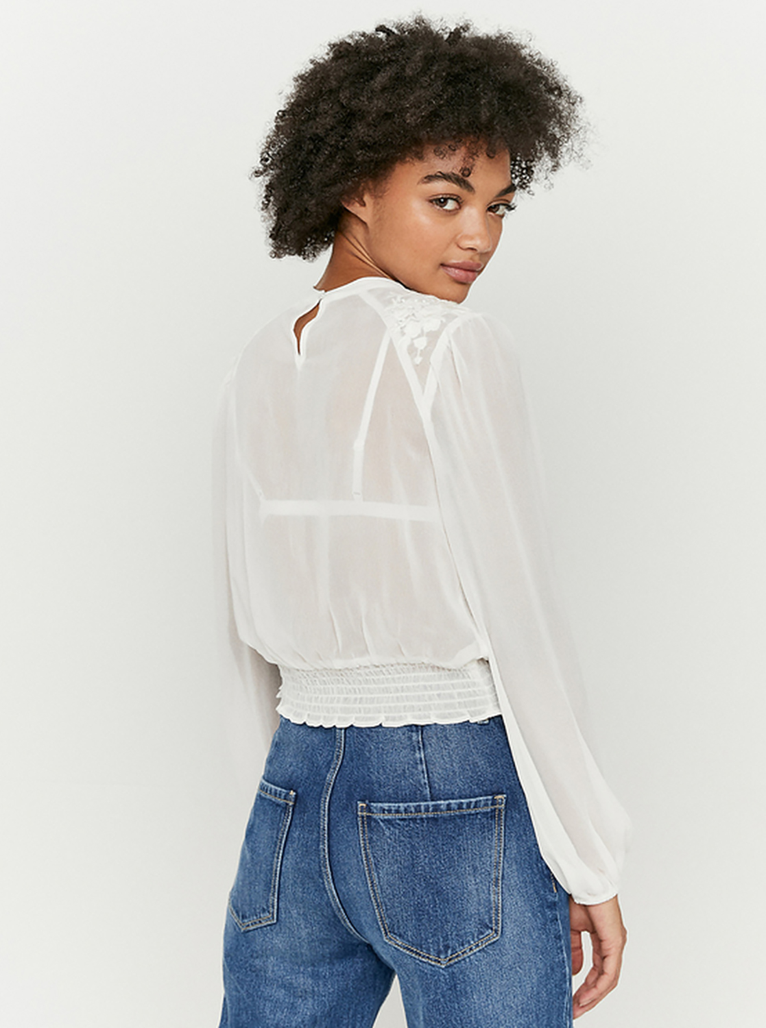White blouse with TALLY WEiJL embroidery