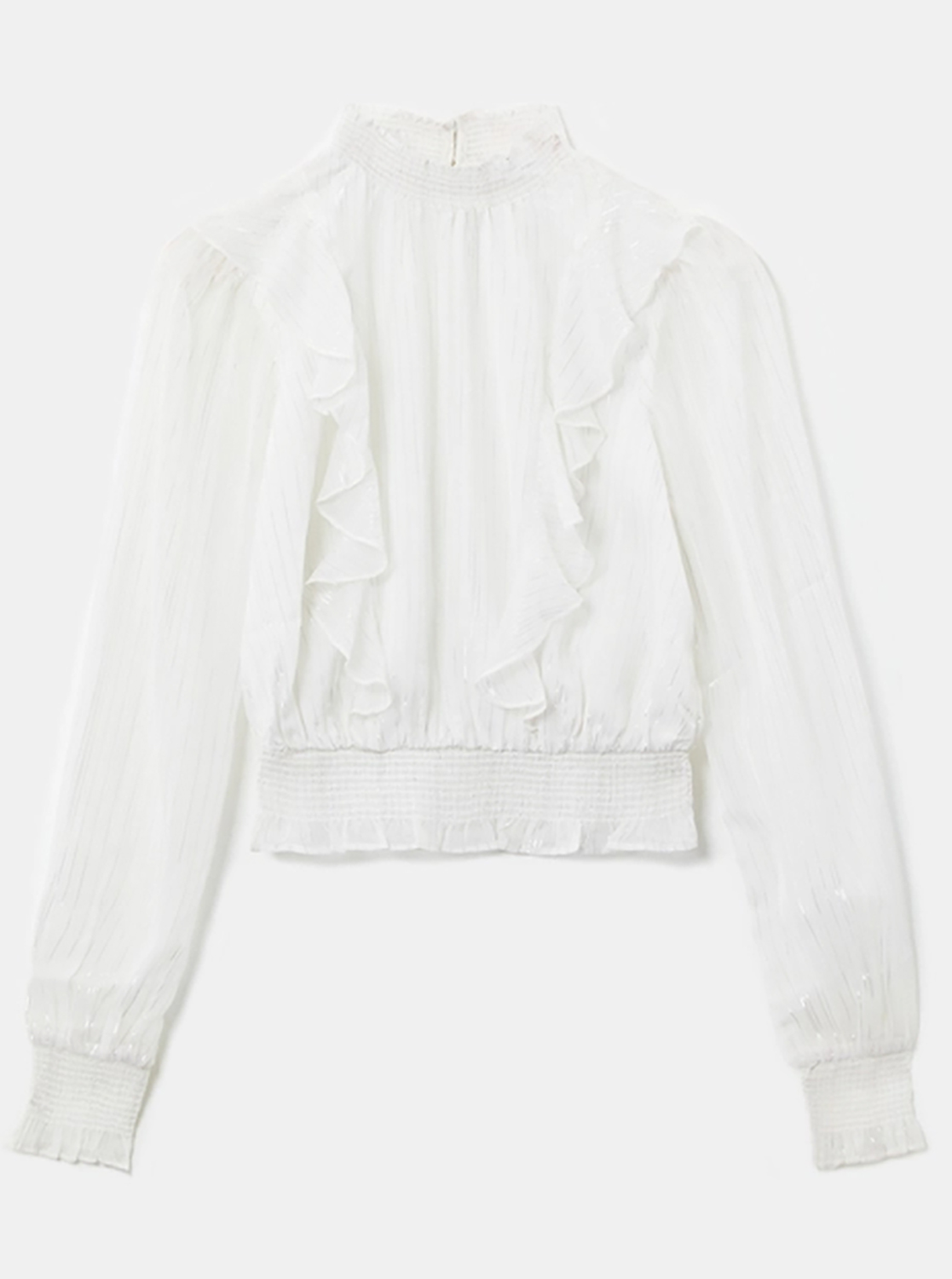 White blouse with ruffles TALLY WEiJL