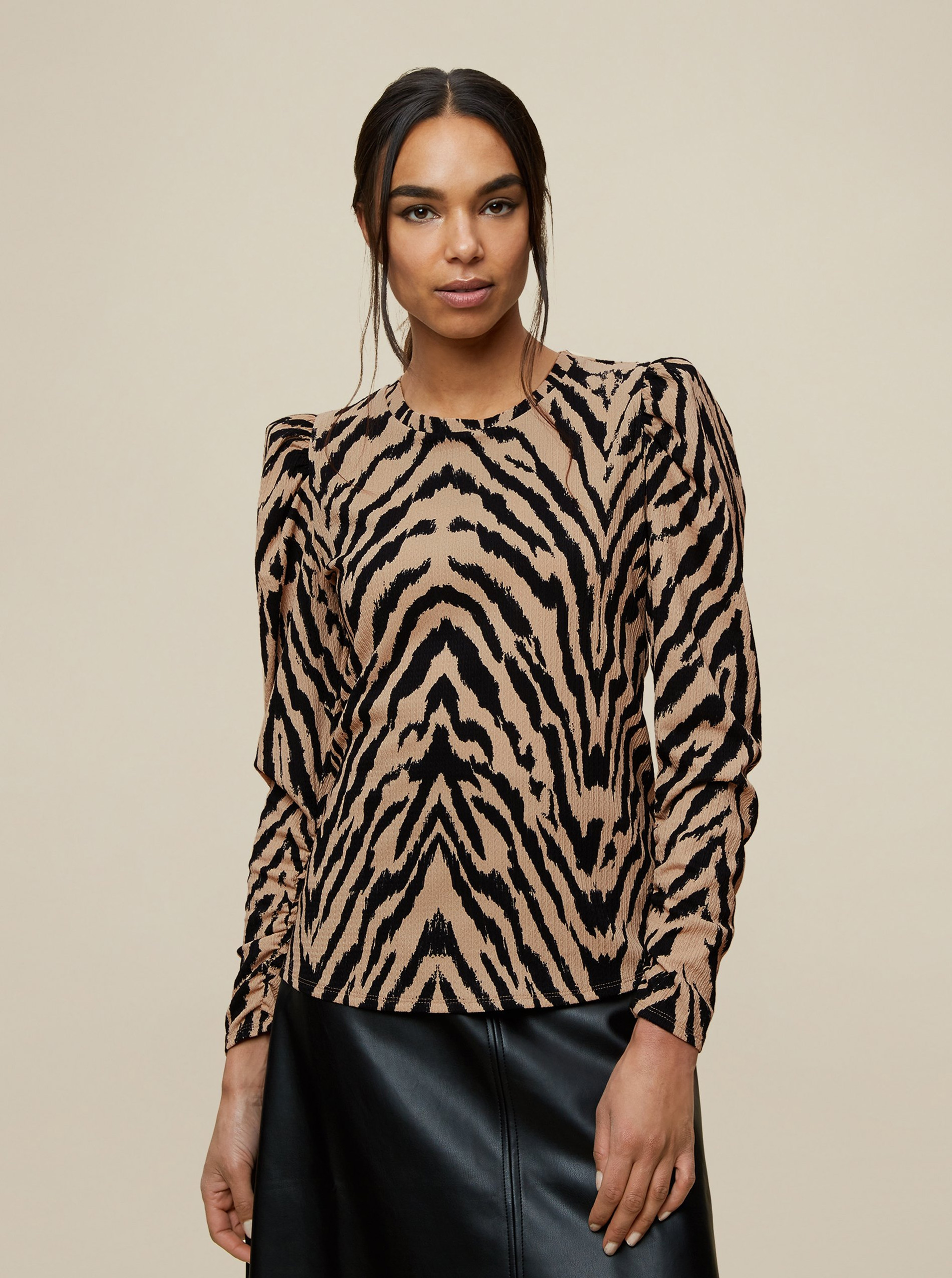 Brown patterned blouse Dorothy Perkins