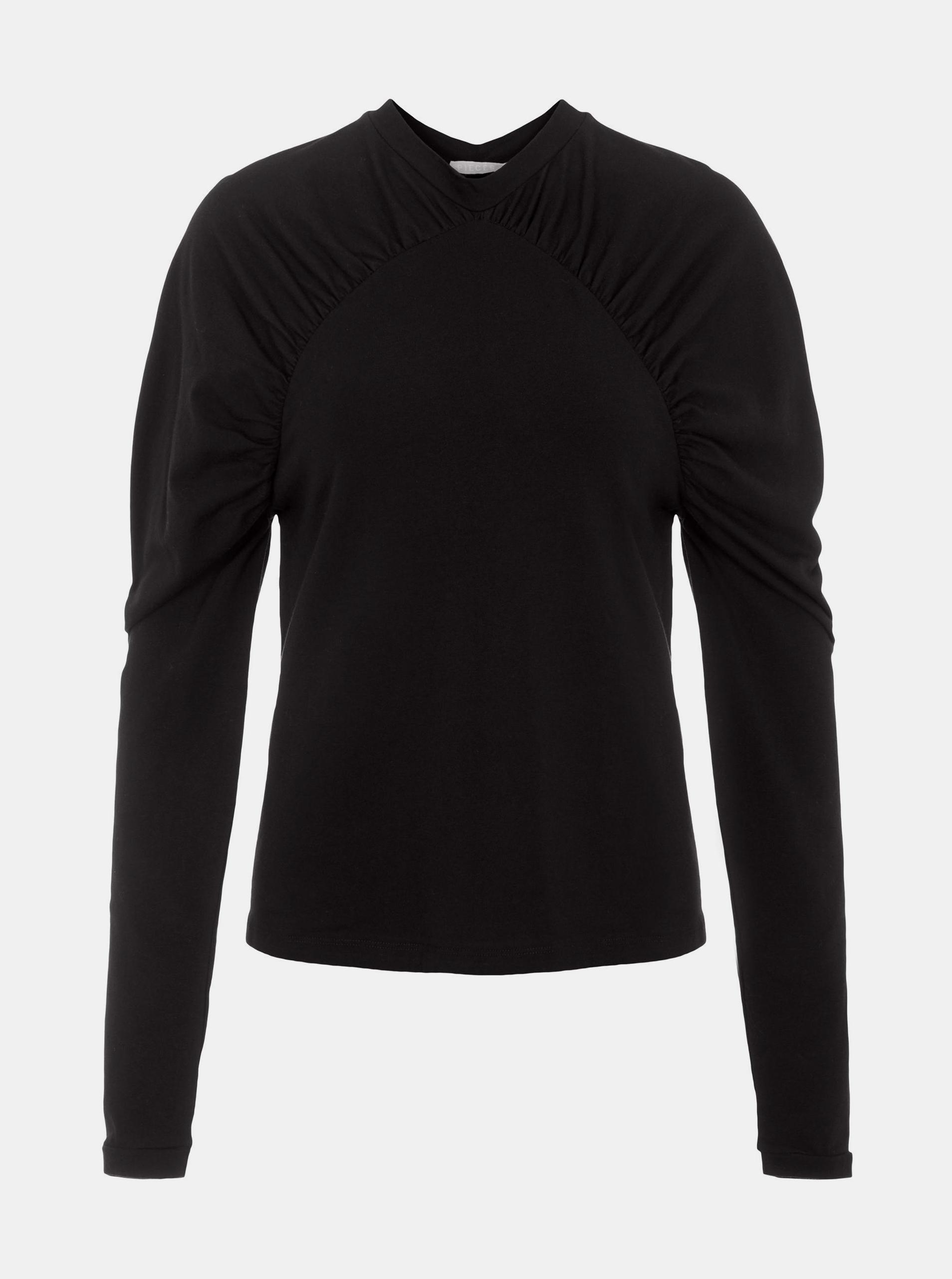 Pieces black women´s T-shirt