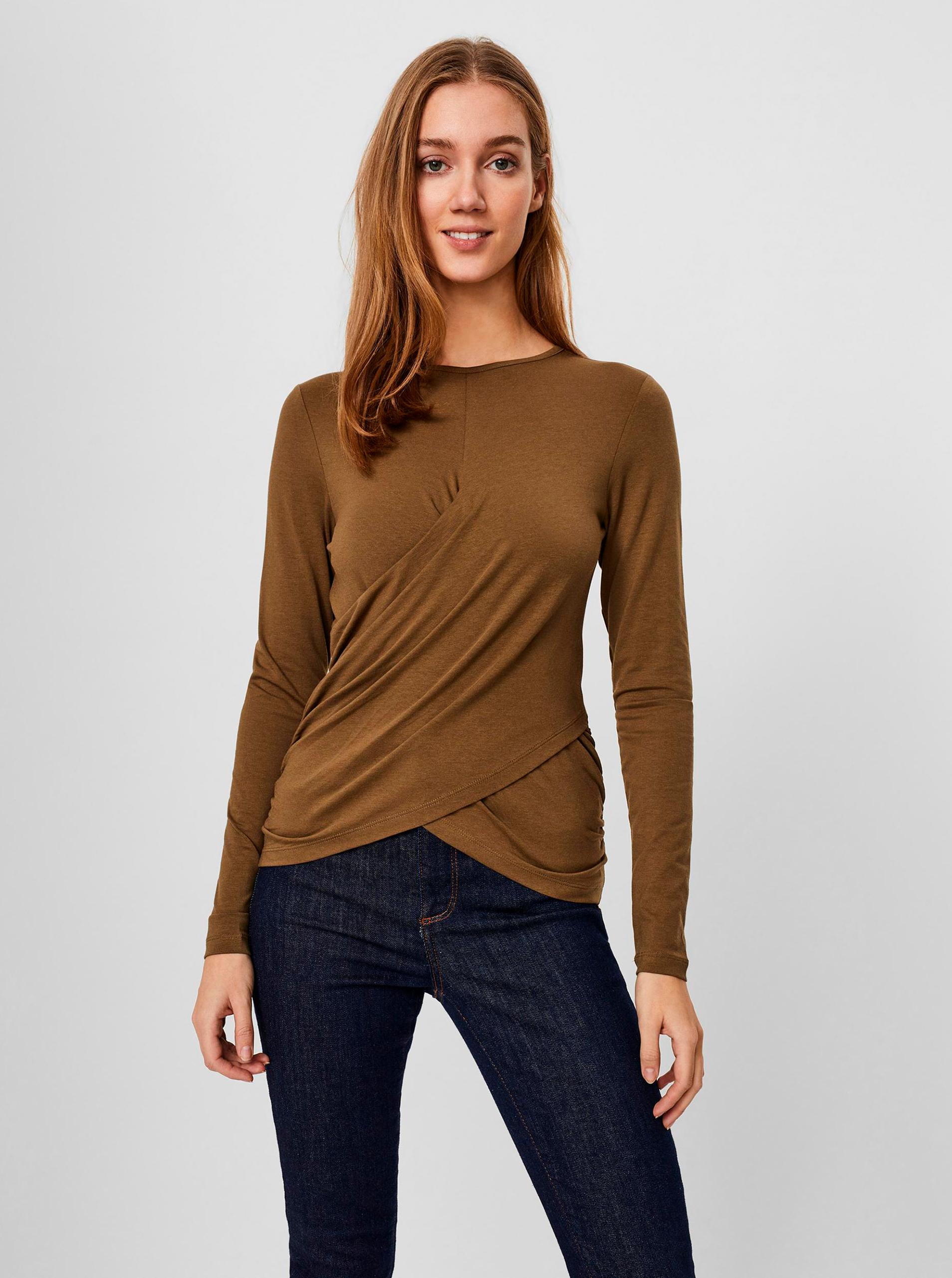 Vero Moda brown T-shirt