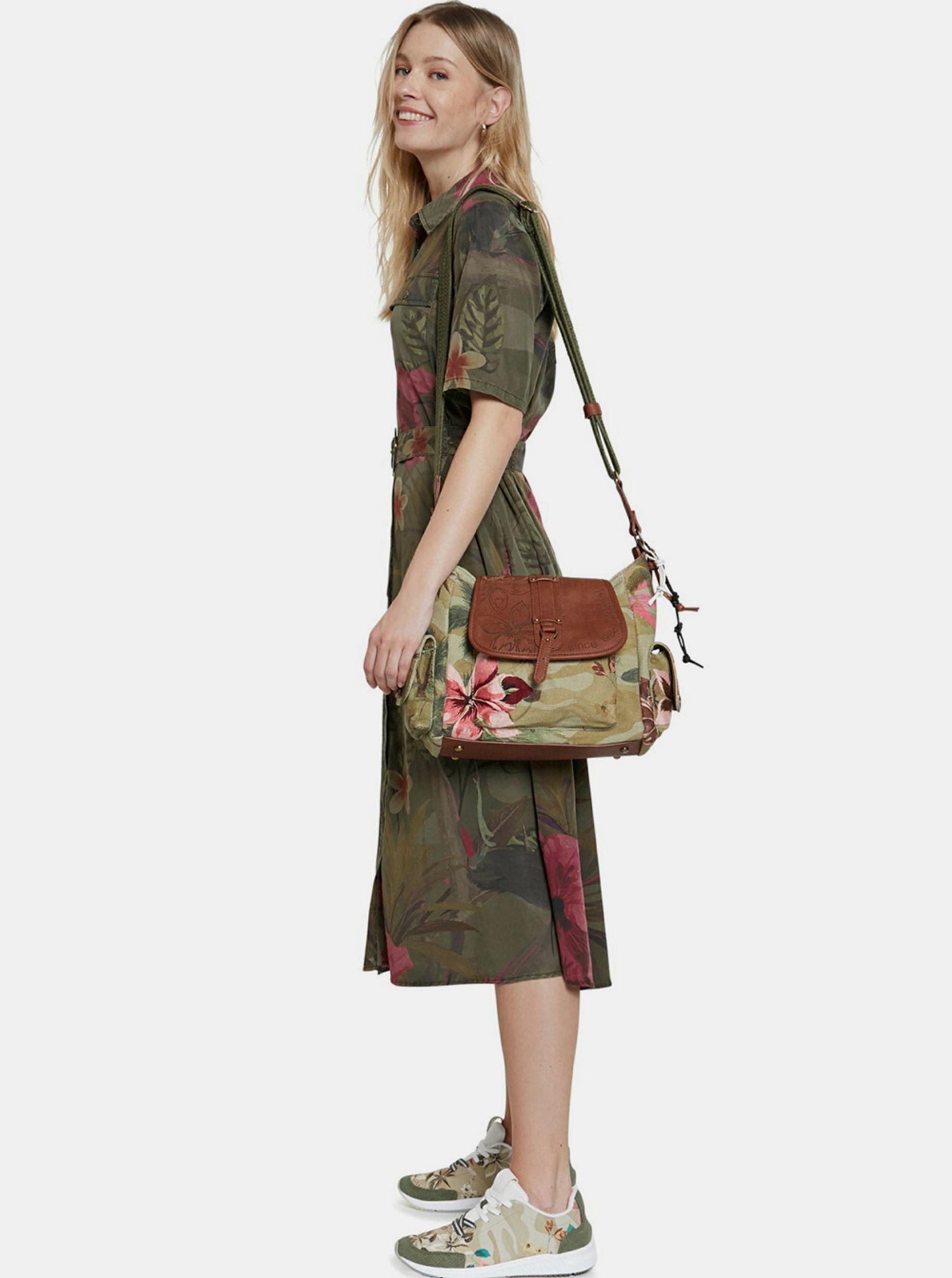 Desigual khaki shirts dress Vest Angela