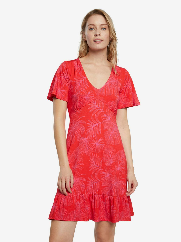 Desigual red aces dress