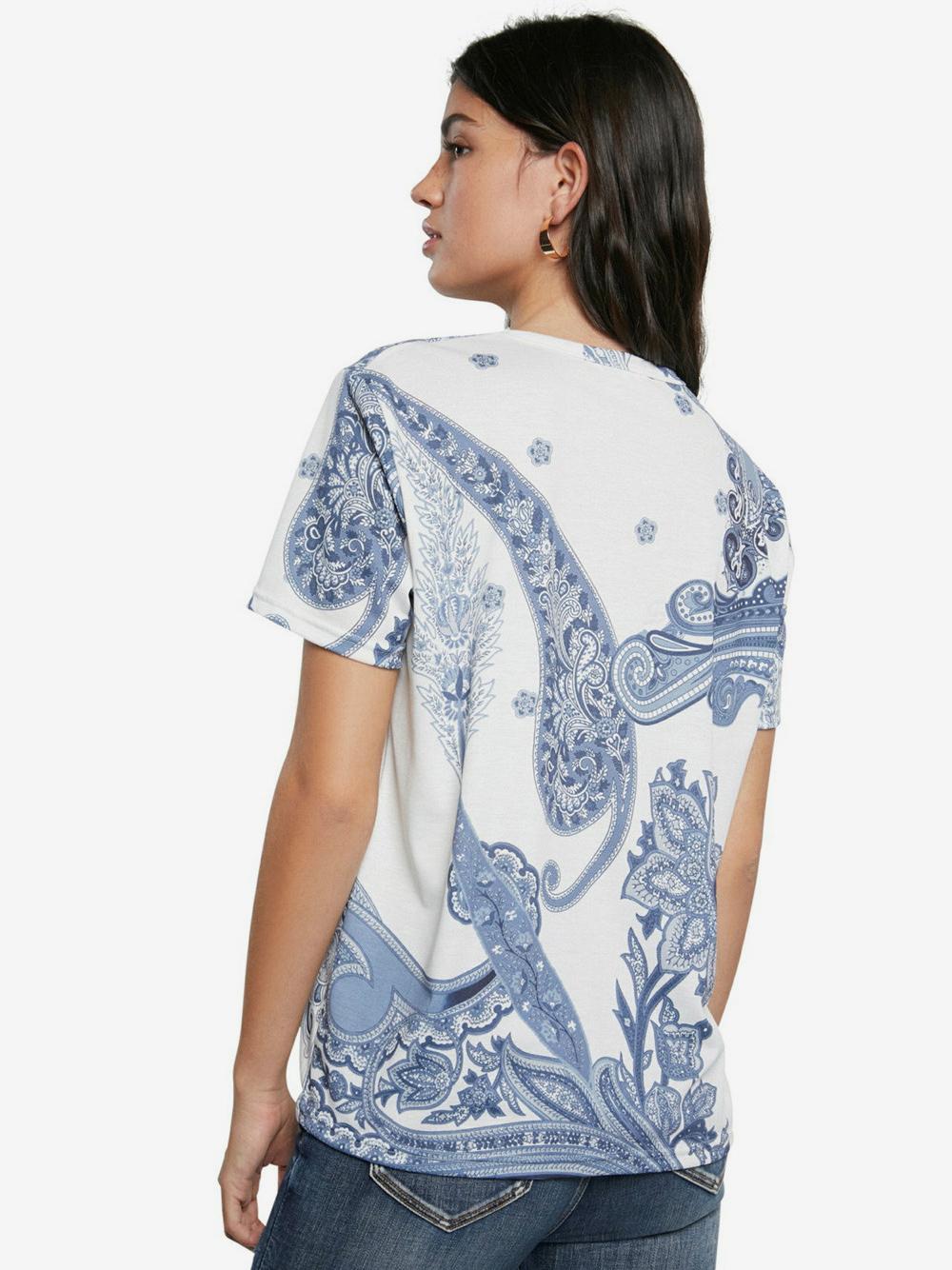 Desigual white T-shirt TS Popasley
