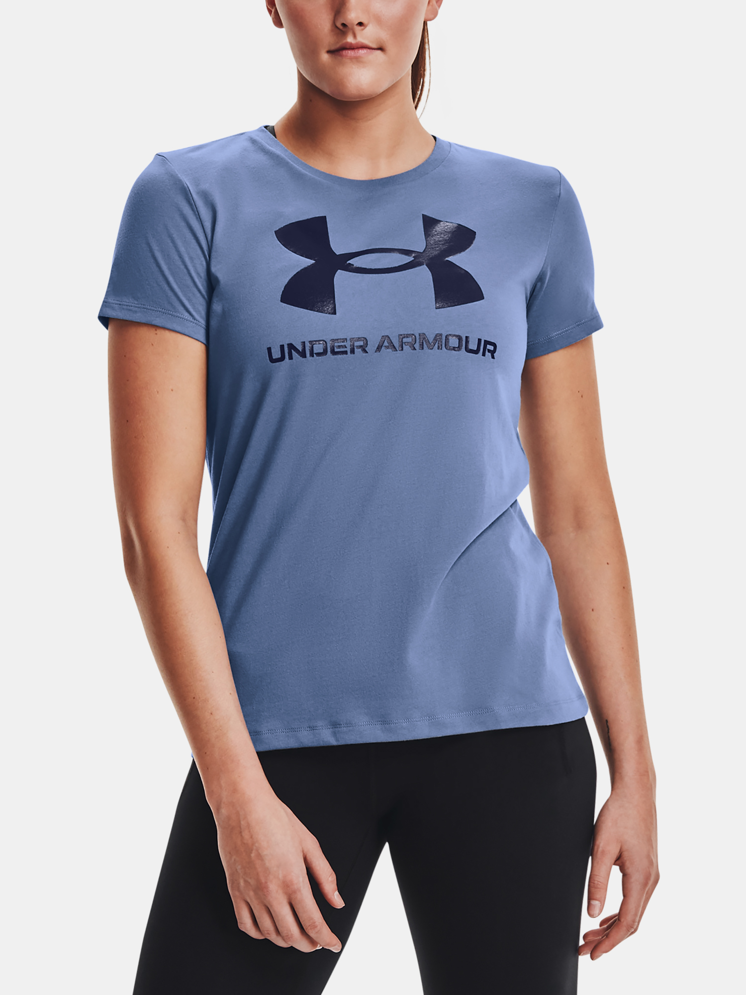 Under Armour women´s T-shirt Live Sportstyle Graphic SSC-BLU