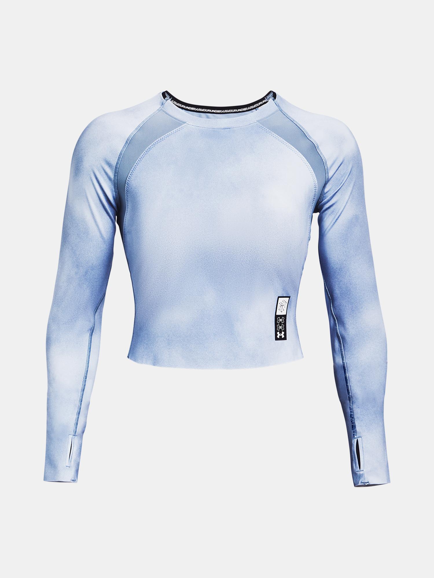 Under Armour women´s T-shirt Run Anywhere Cropped LS-BLU