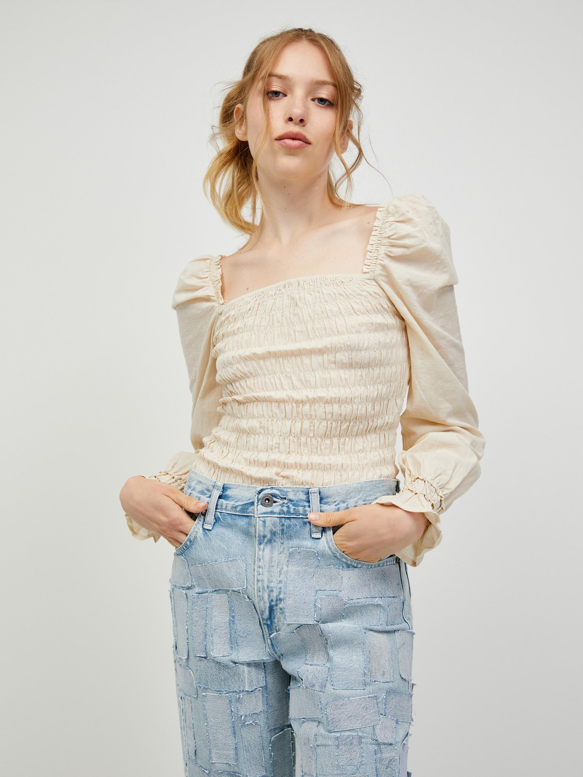 Vero Moda cream / cream blouse Doro