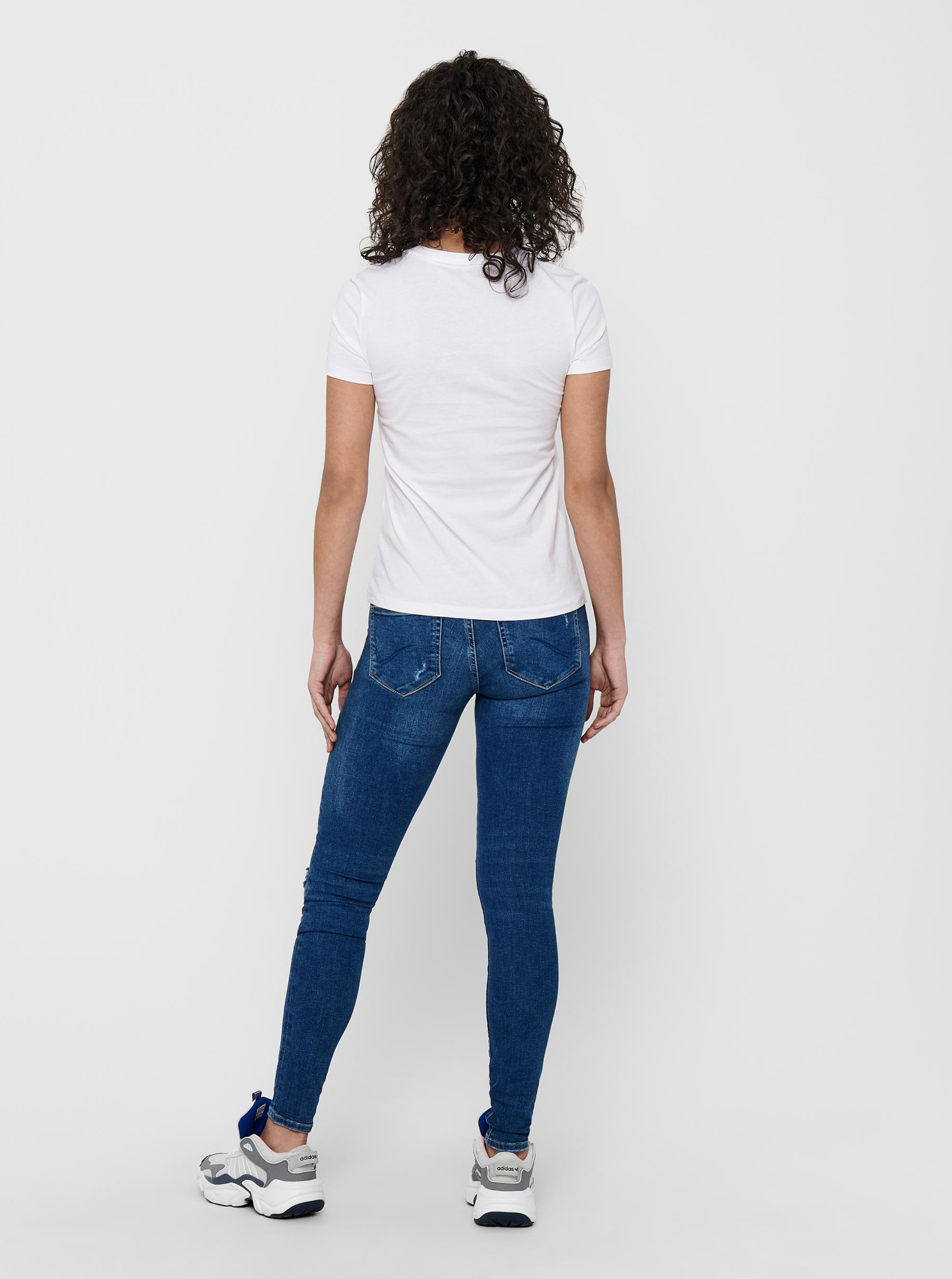 Only white women´s T-shirt Kita with print