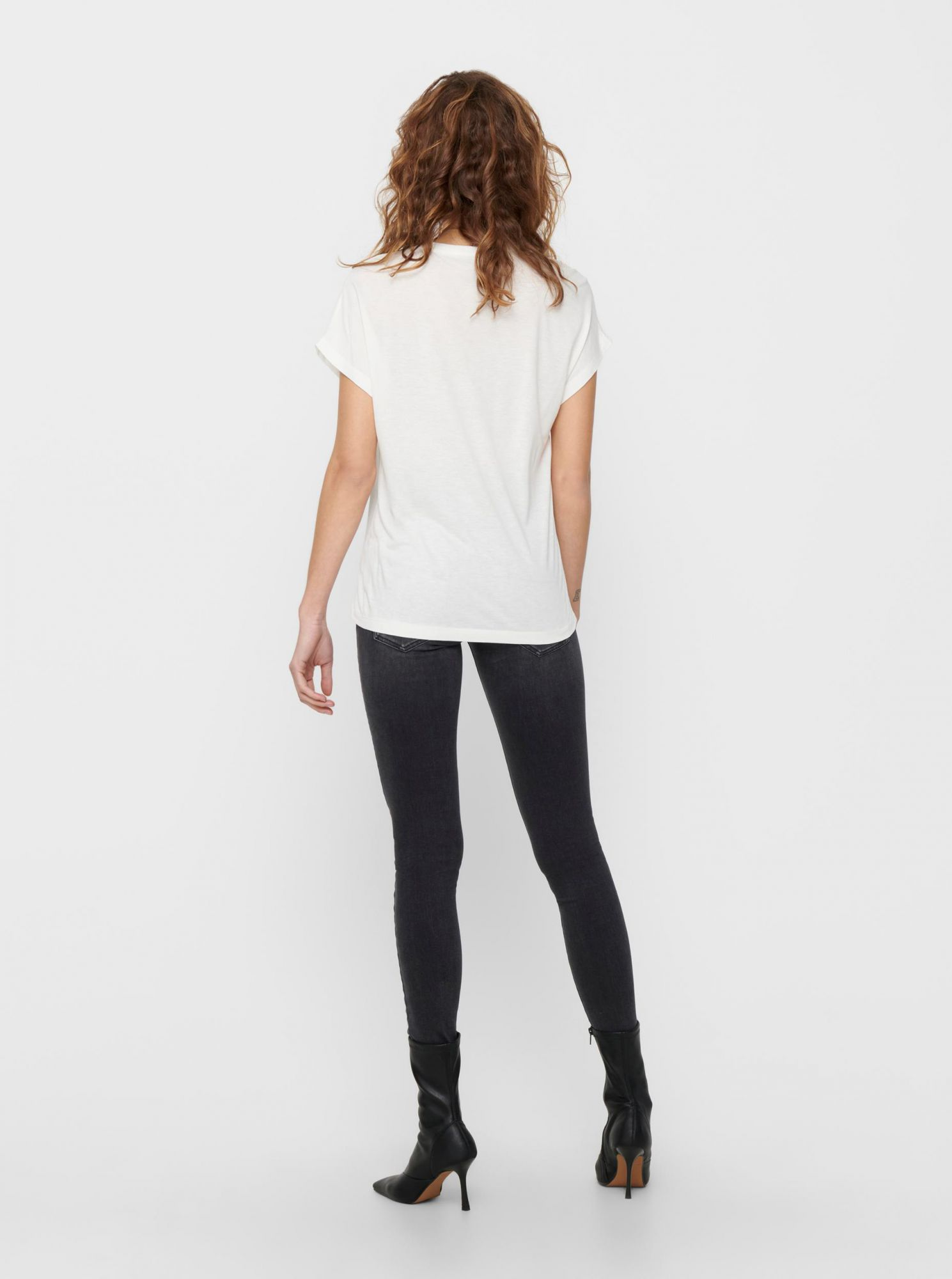Only white women´s T-shirt Wendy with print