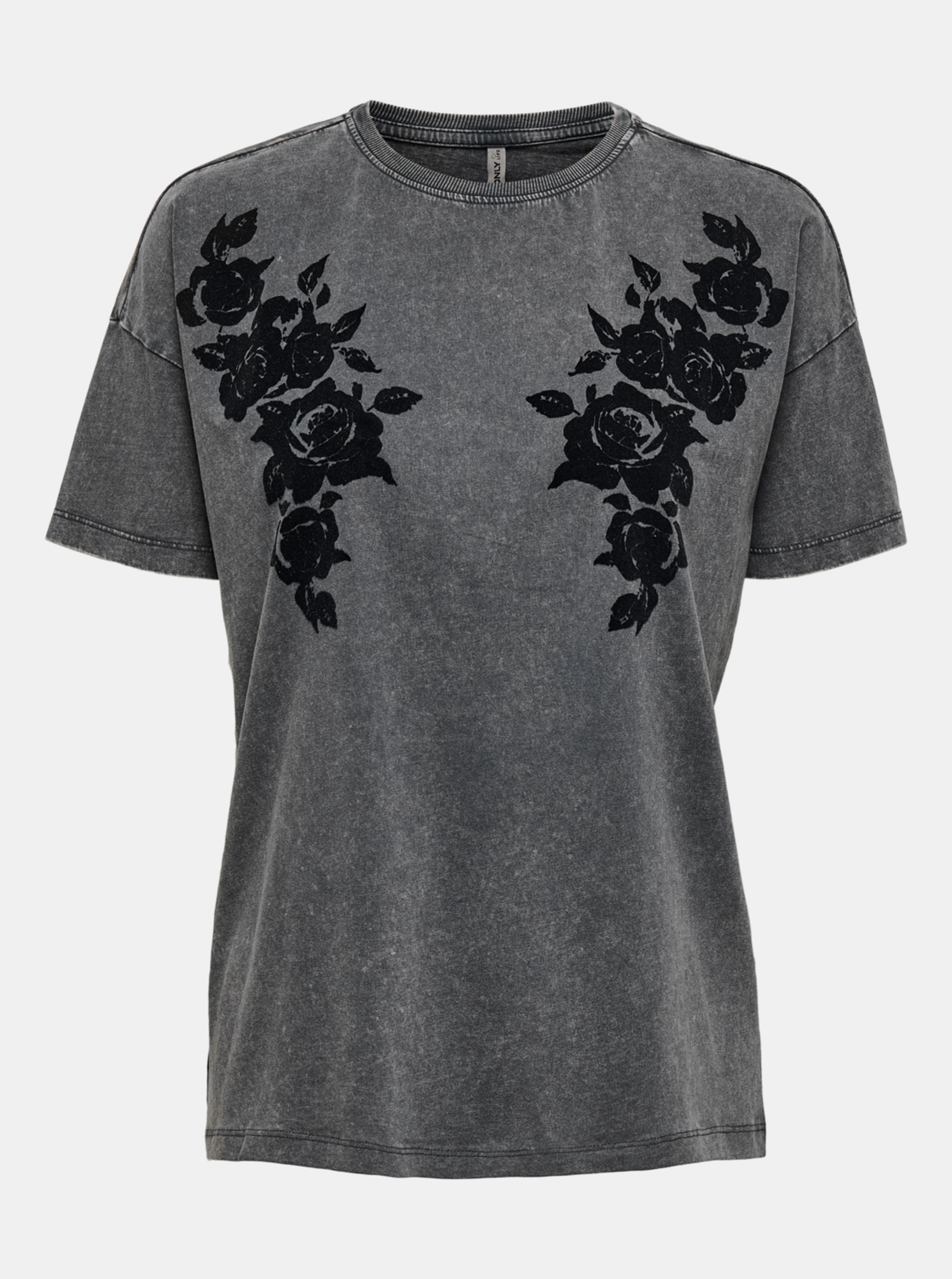 Only grey women´s T-shirt with print