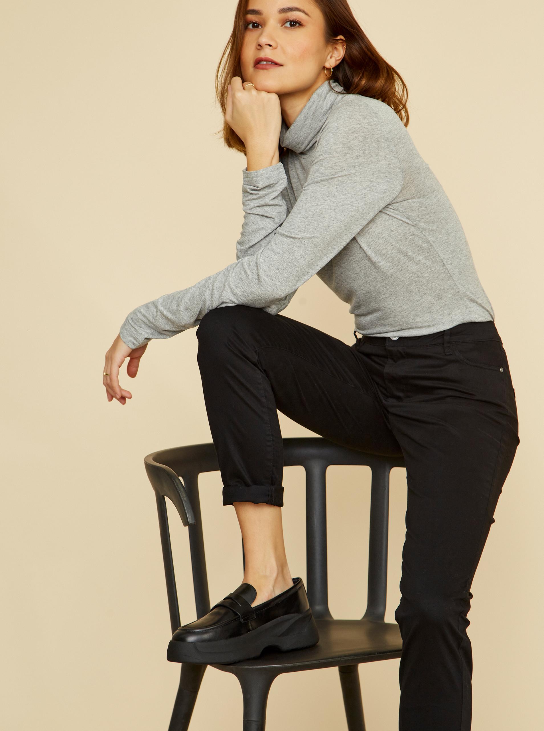 ZOOT grey basic women´s turtleneck Alto