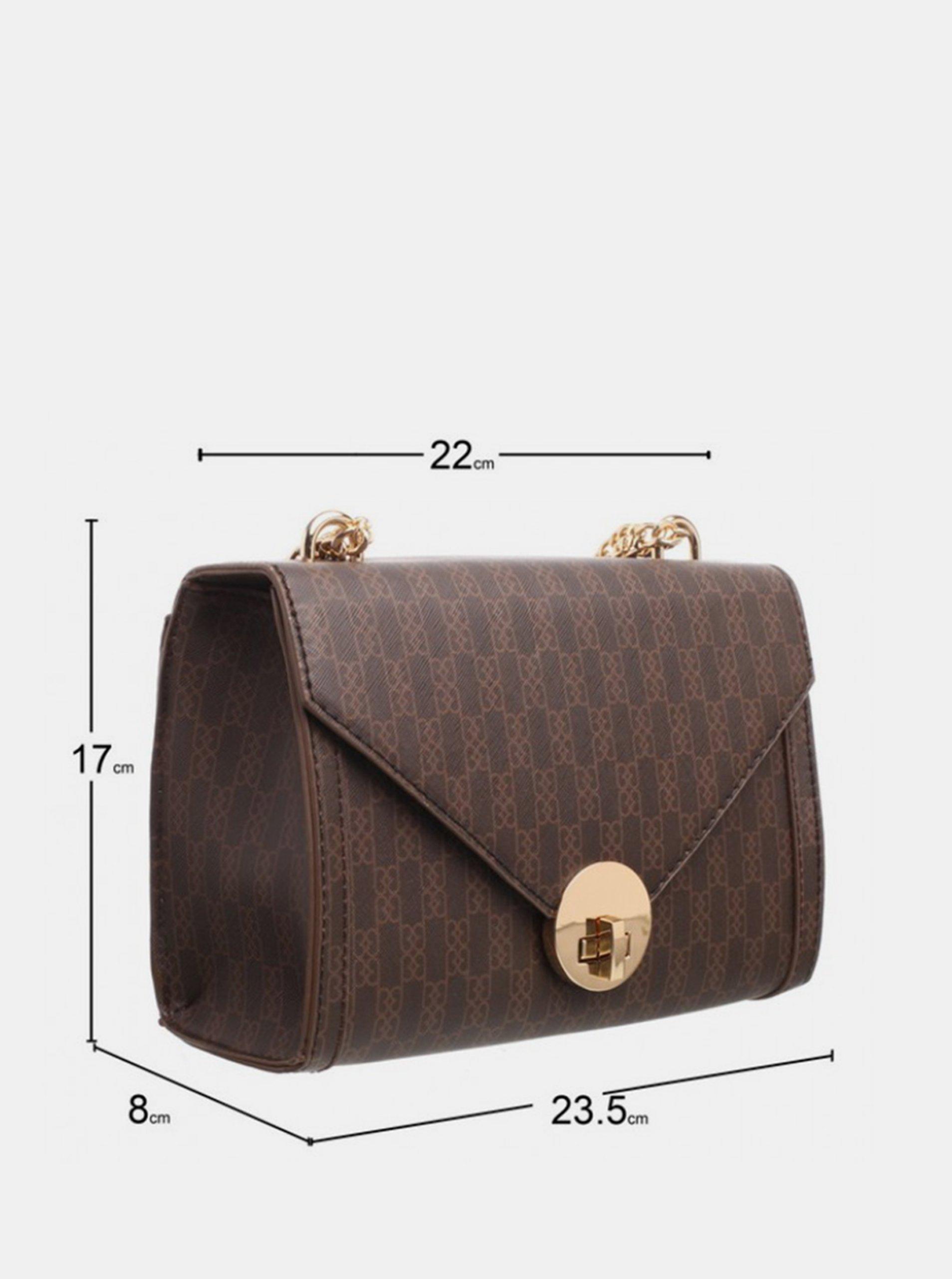Bessie London brown crossbody handbag