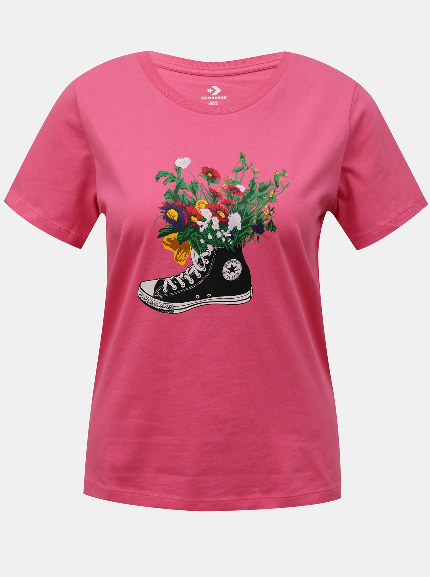 Converse pink T-shirt Flowers Are Blooming