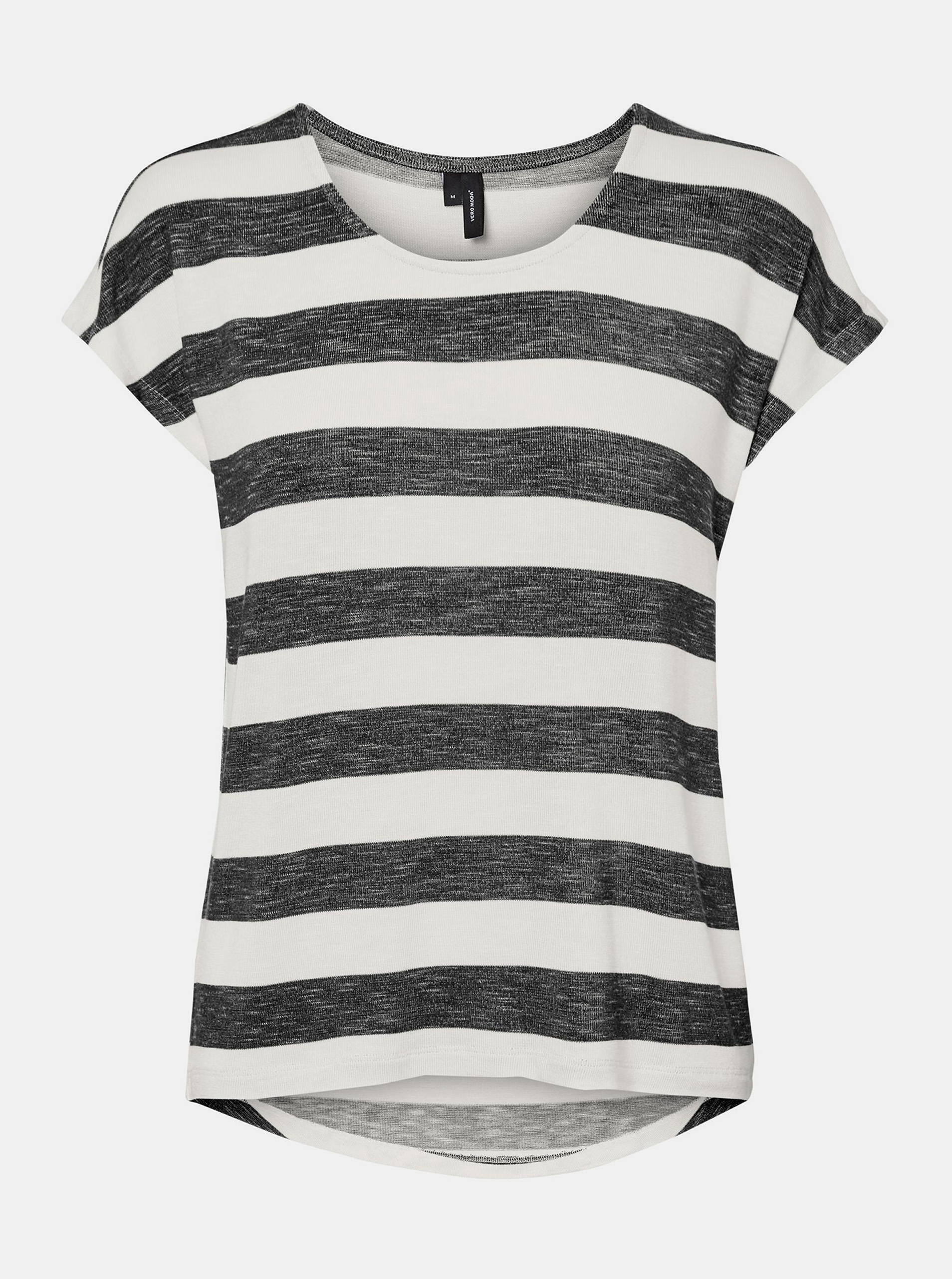 Vero Moda black striped T-shirt Wide Stripe
