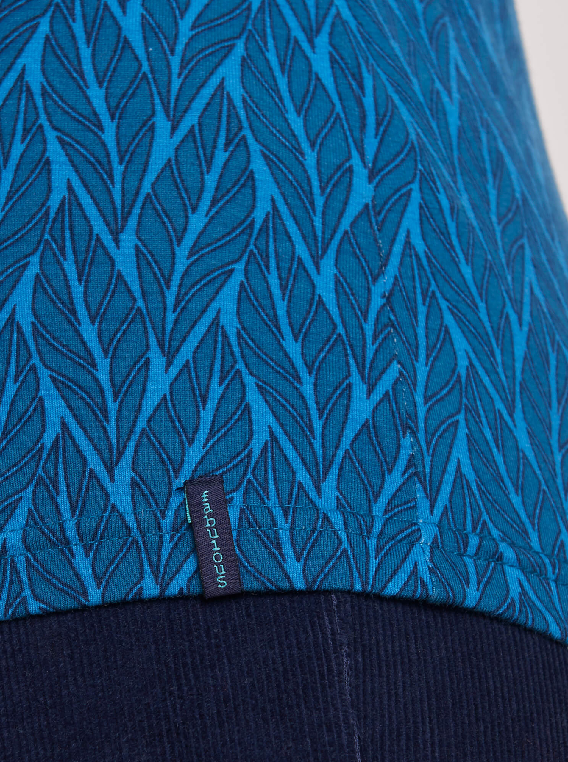 Tranquillo blue T-shirt with pattern