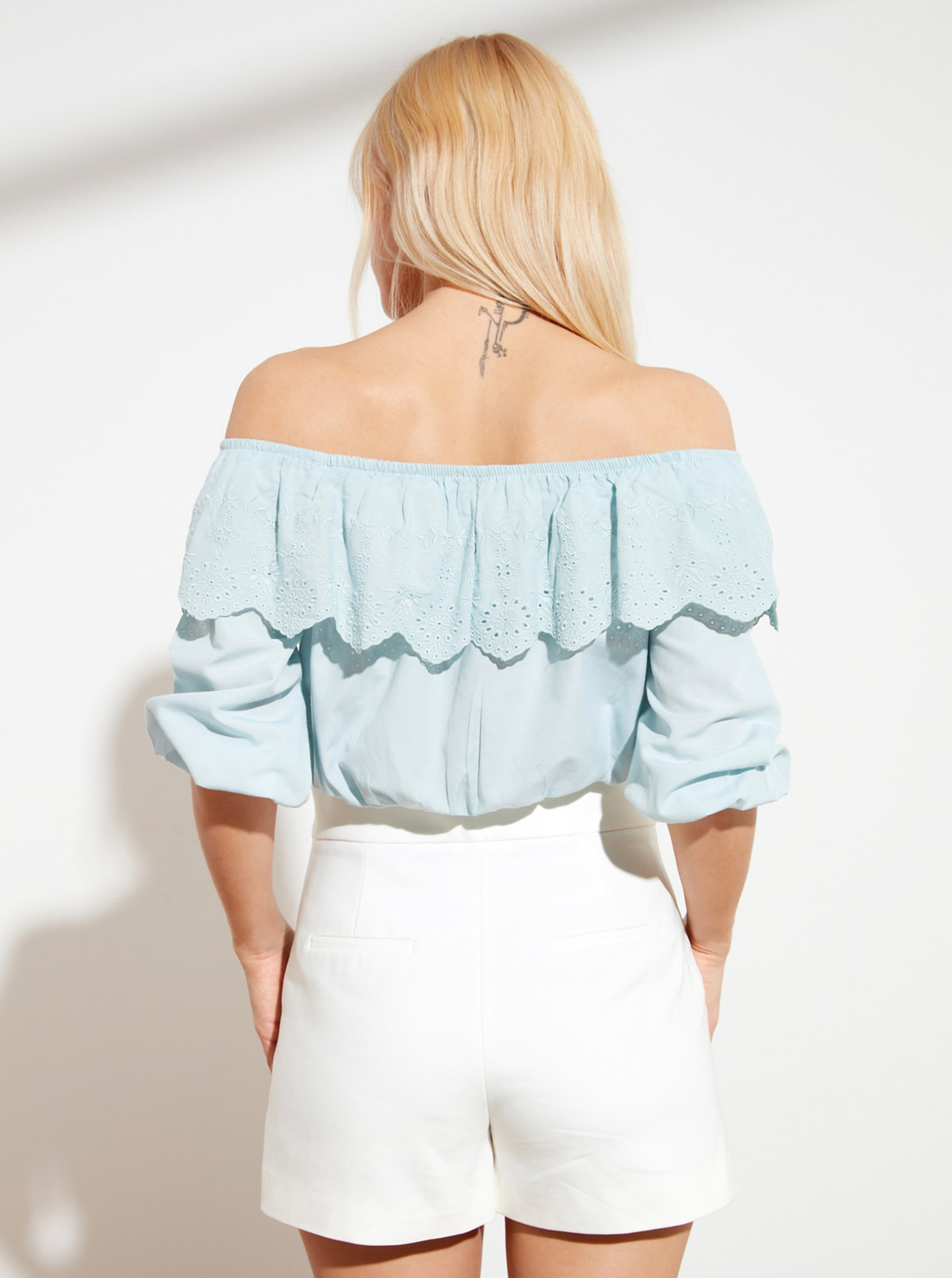 Trendyol blue women´s blouse with wood