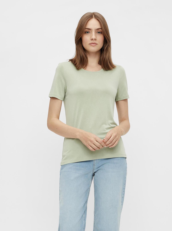 Pieces green basic T-shirt Kamala