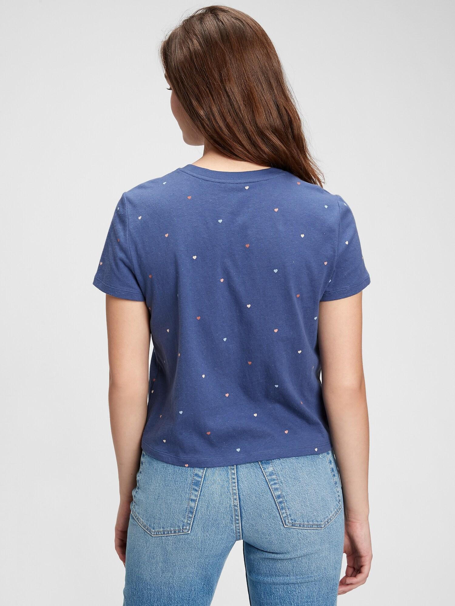 GAP blue women´s T-shirt ss shrunken te