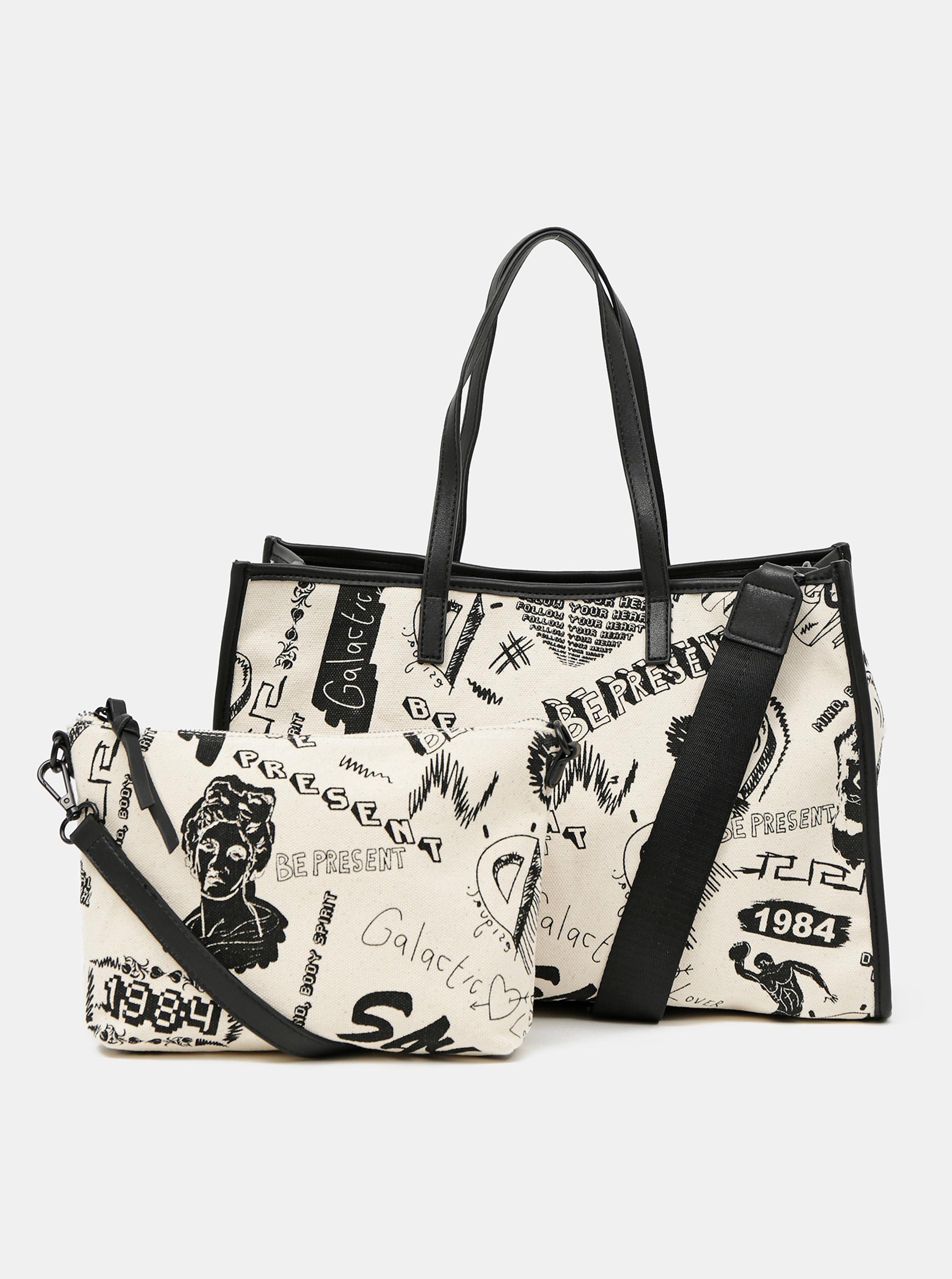 Desigual cream / cream handbag