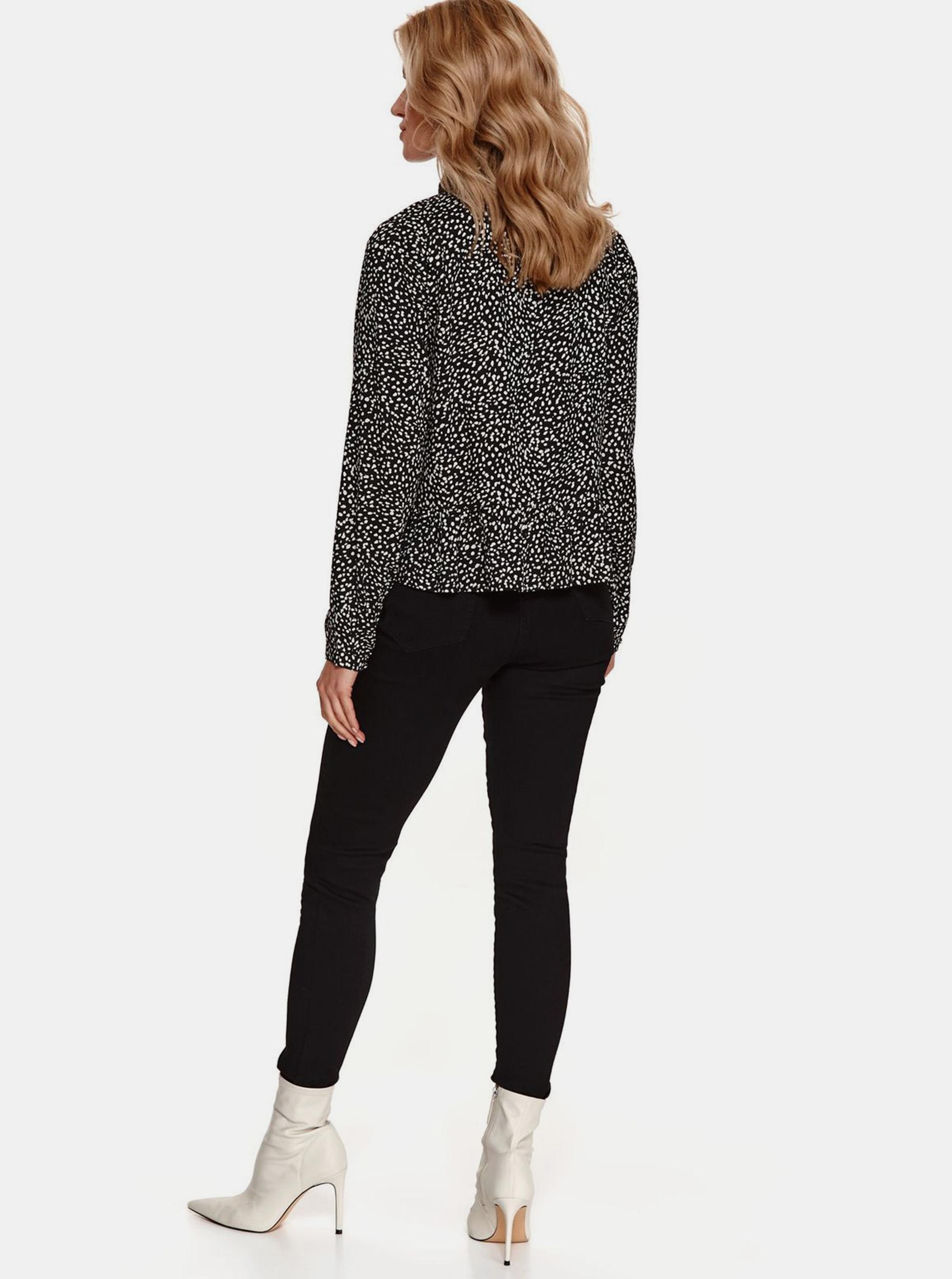 TOP SECRET black blouse with pattern