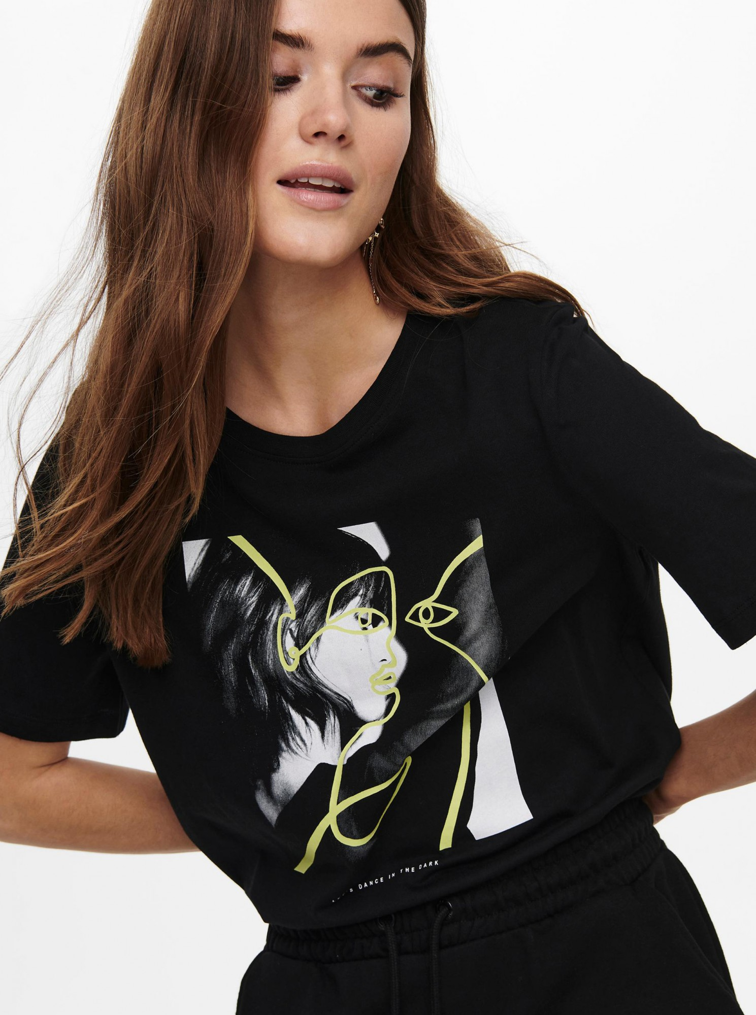 Only black T-shirt Fancy with print