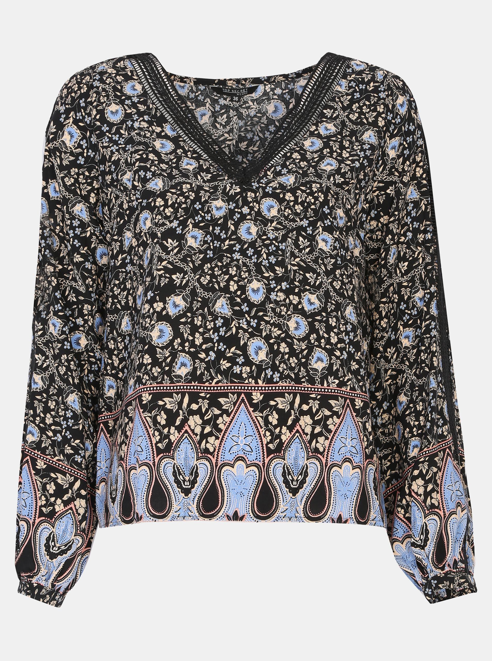 TOP SECRET black blouse