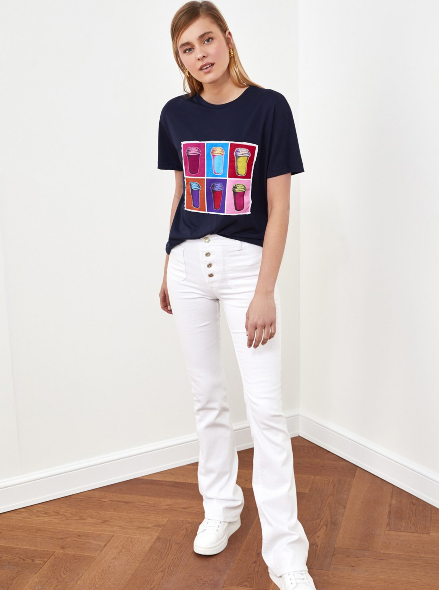 Trendyol blue T-shirt with print