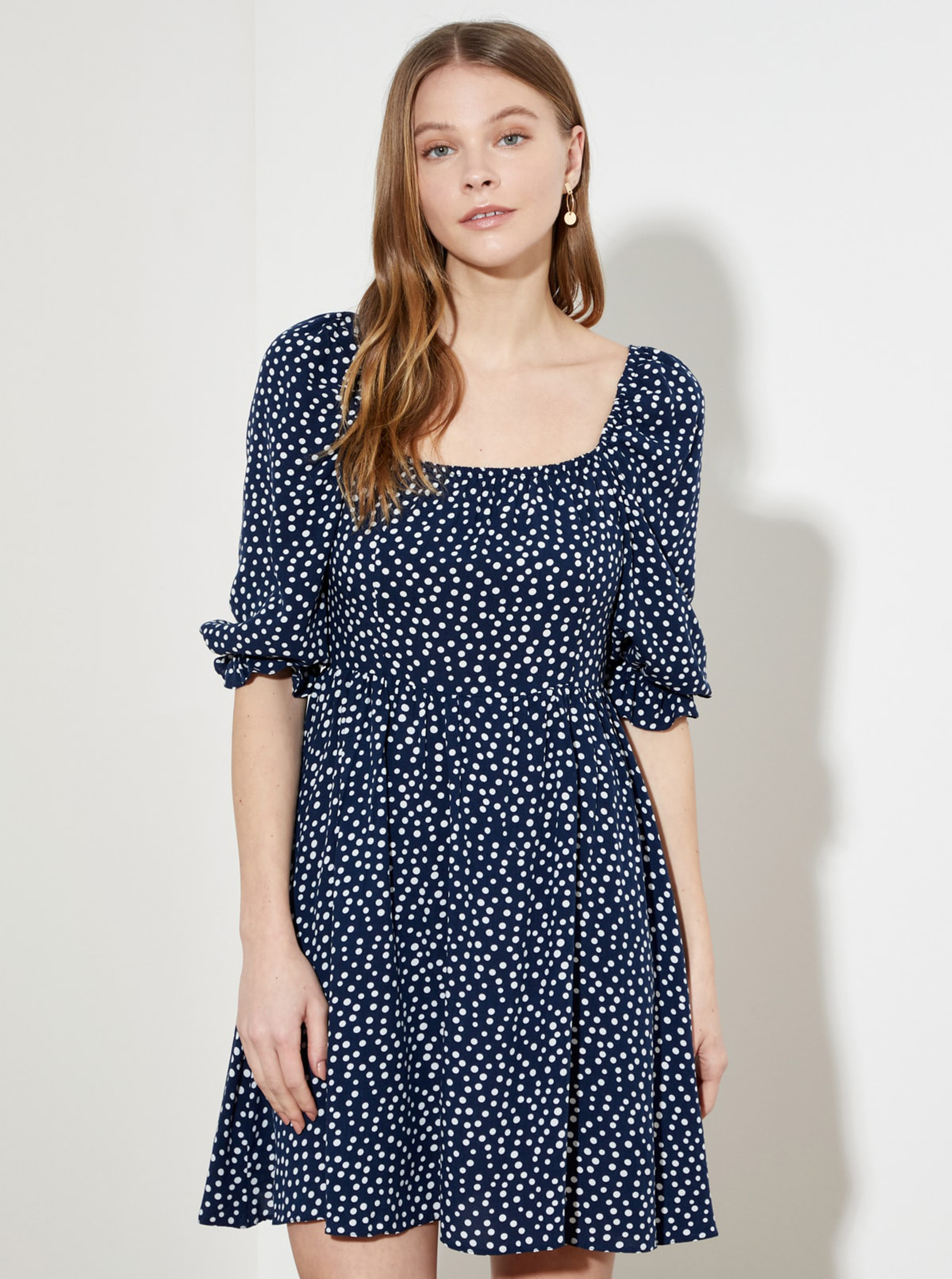 Trendyol blue dress with small pattern