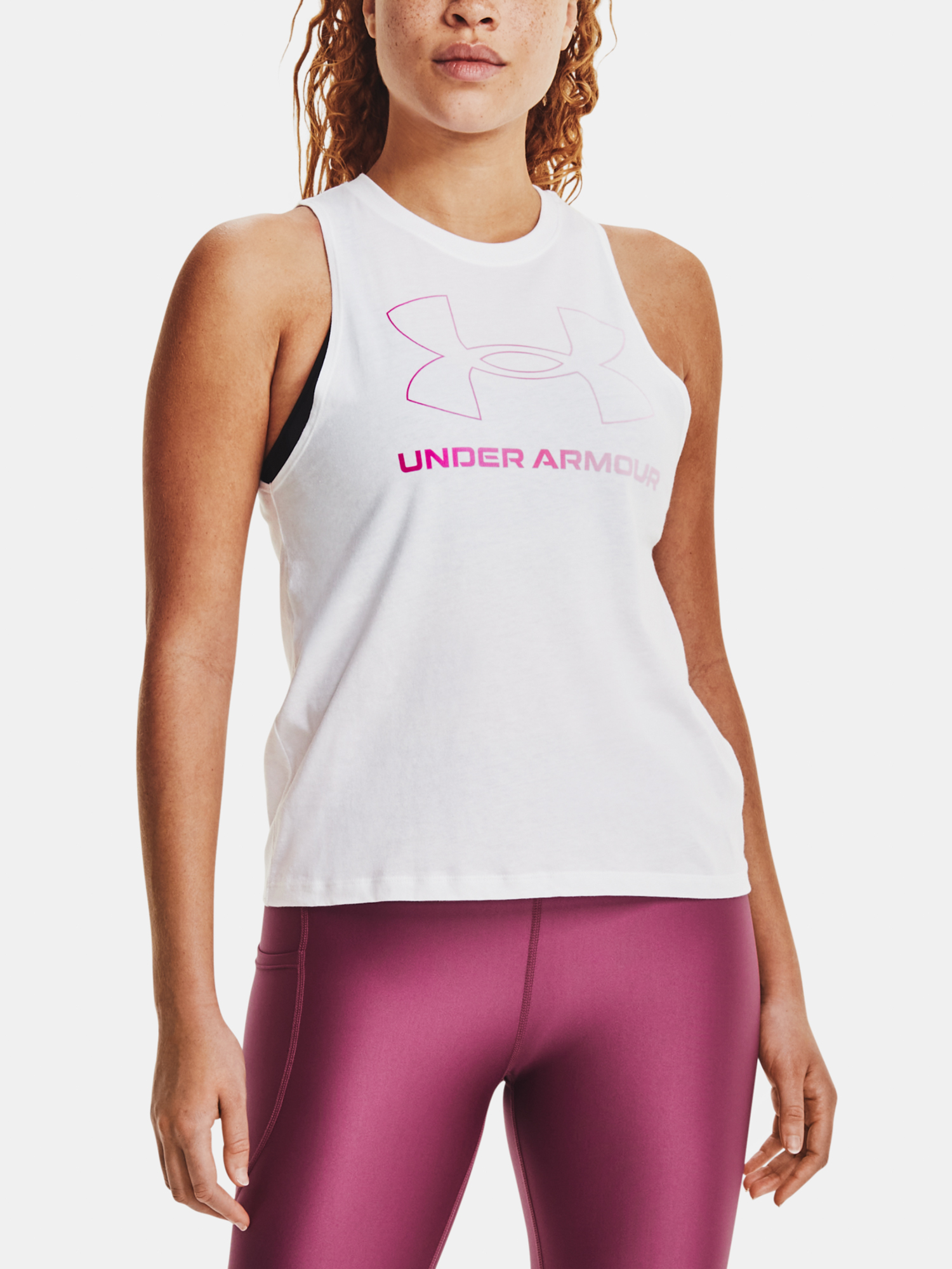 Under Armour women´s top Live Sportstyle Graphic Tank-WHT