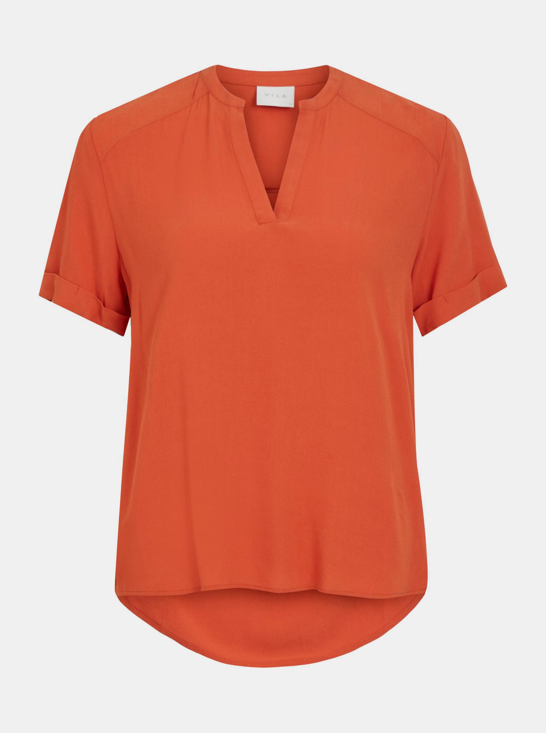 Vila orange blouse Ashly