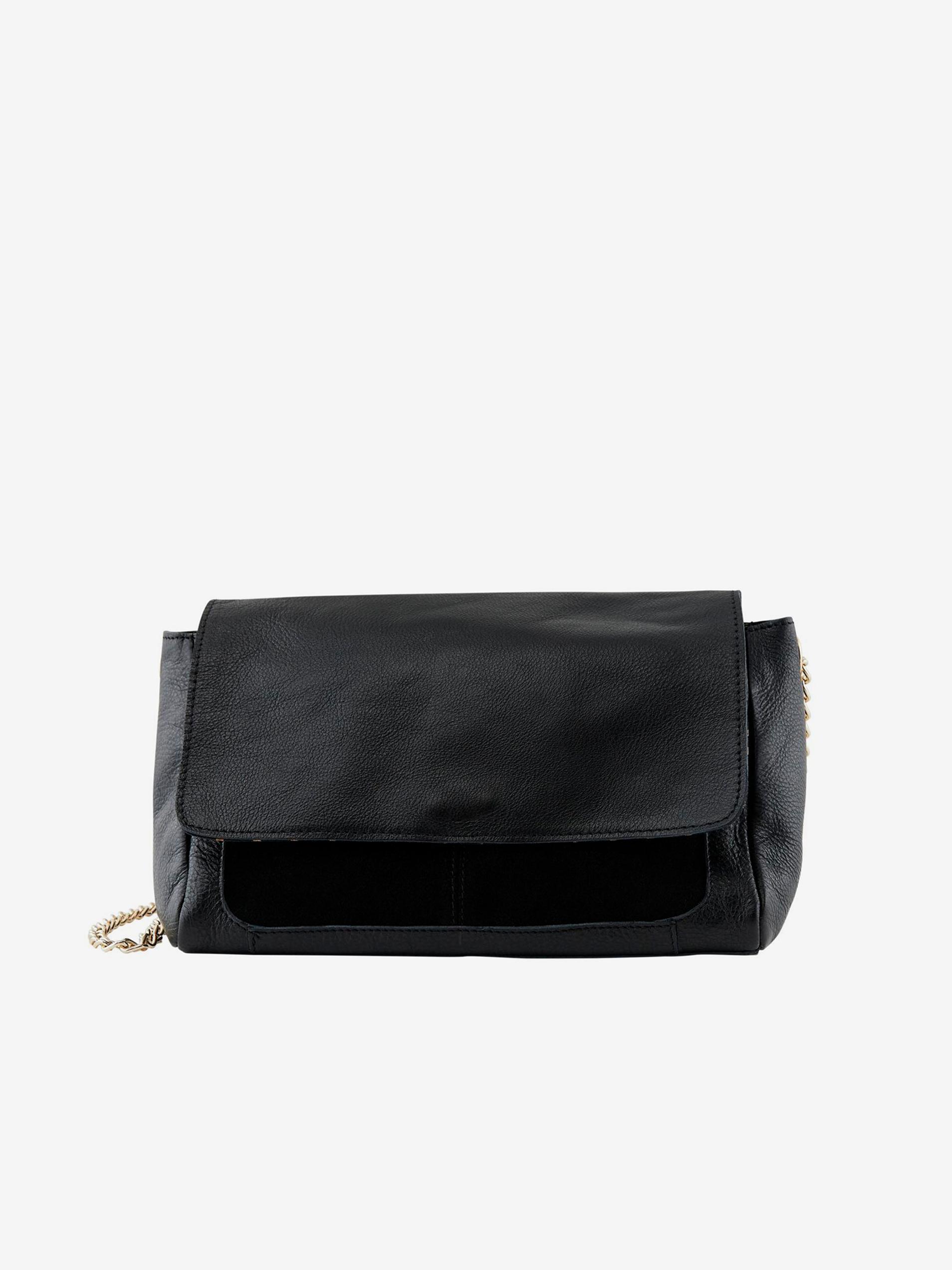 Pieces black leather crossbody handbag Gunna