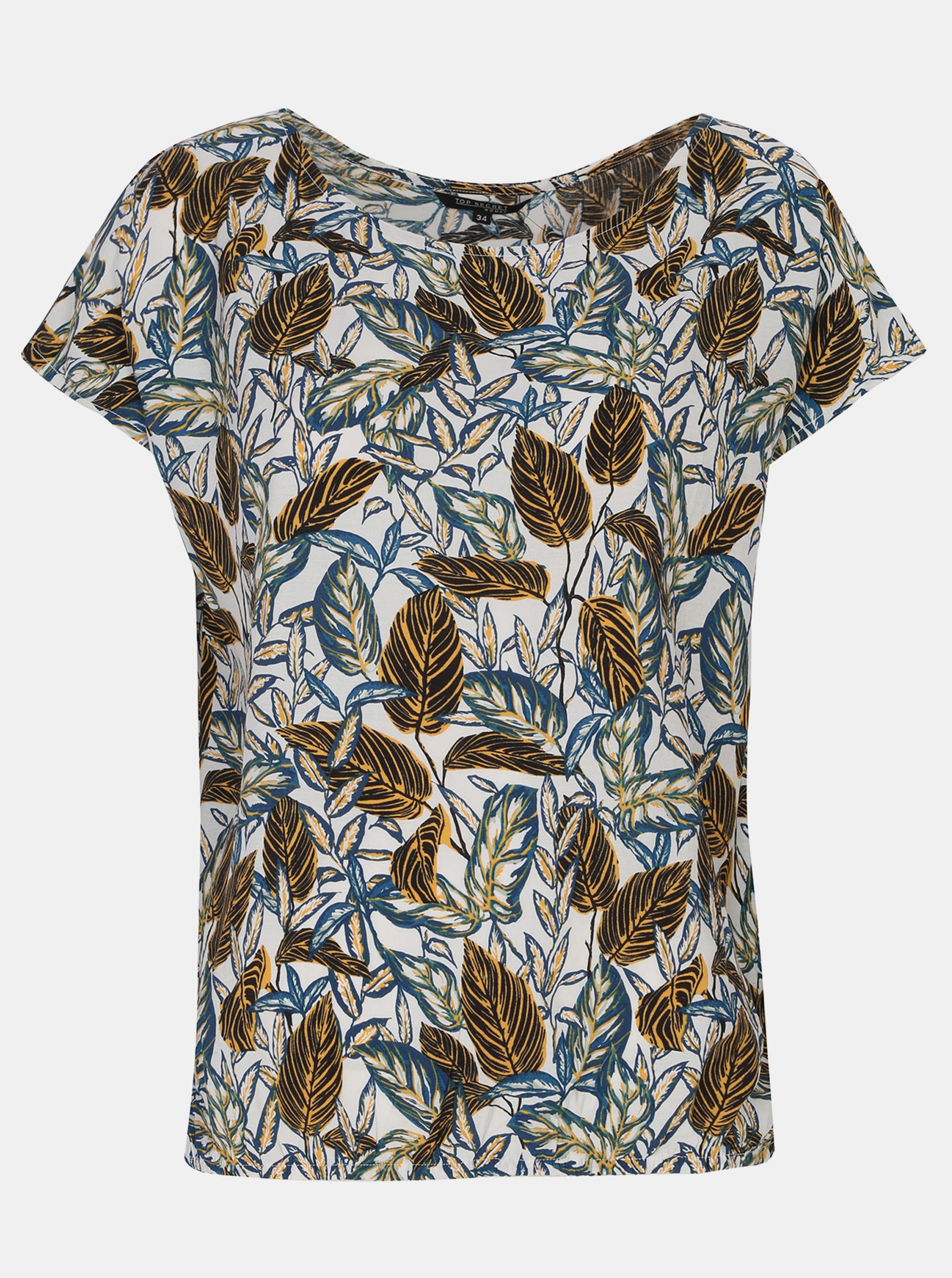 TOP SECRET white women´s T-shirt with pattern