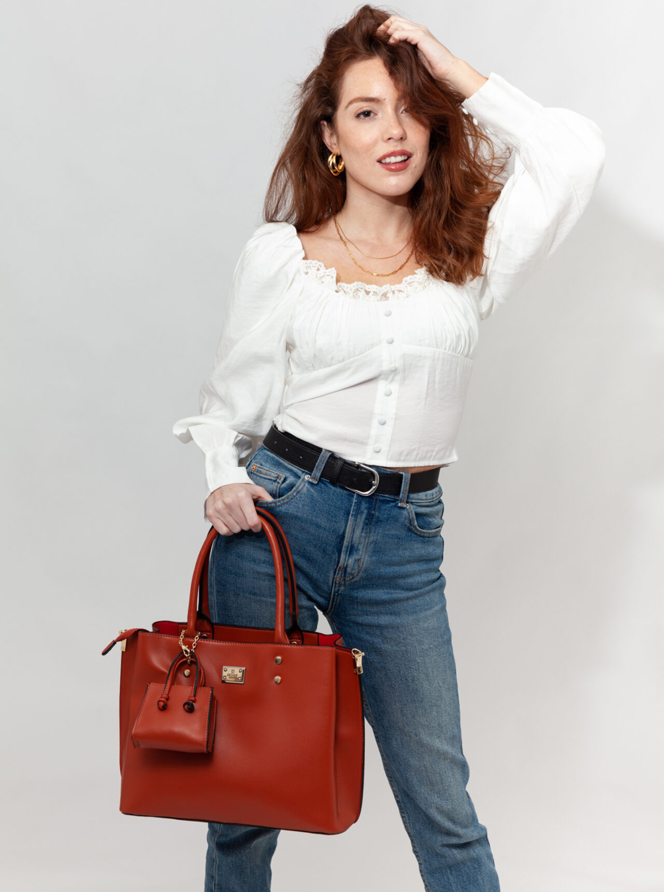 Bessie London brown 2in1 handbag