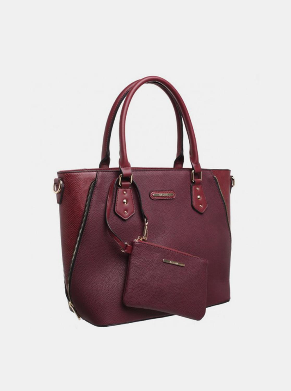 Bessie London wine / bordo 2in1 handbag