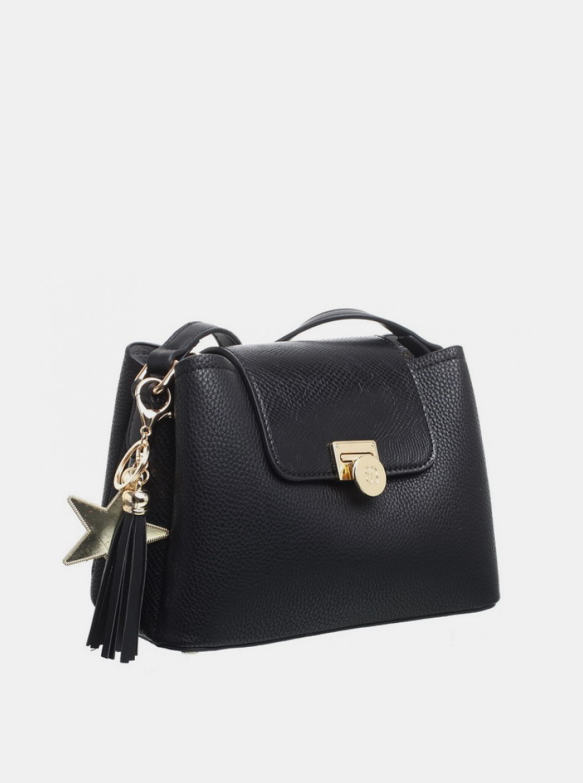 Bessie London black crossbody handbag