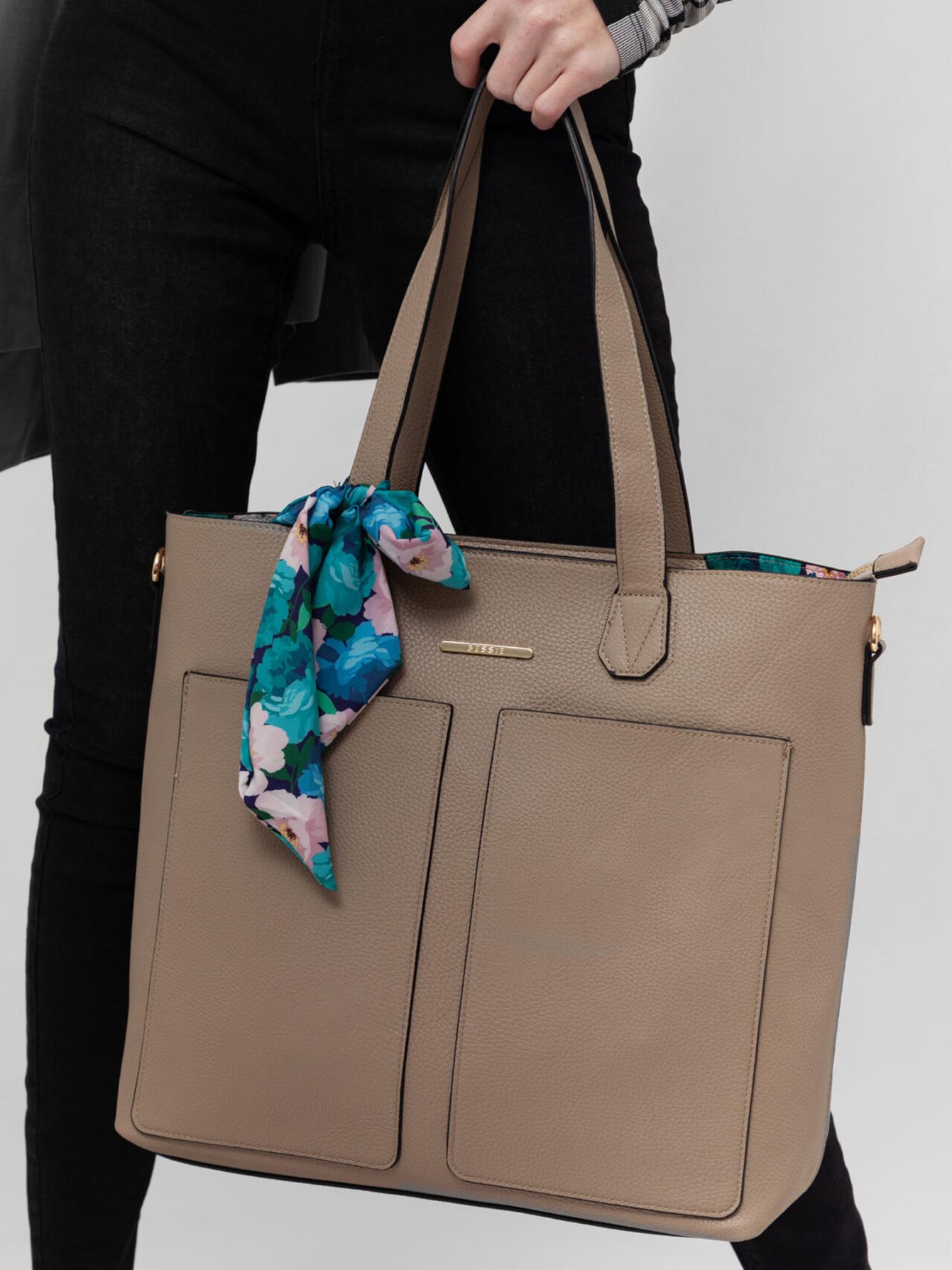 Bessie London beige 3in1 handbag