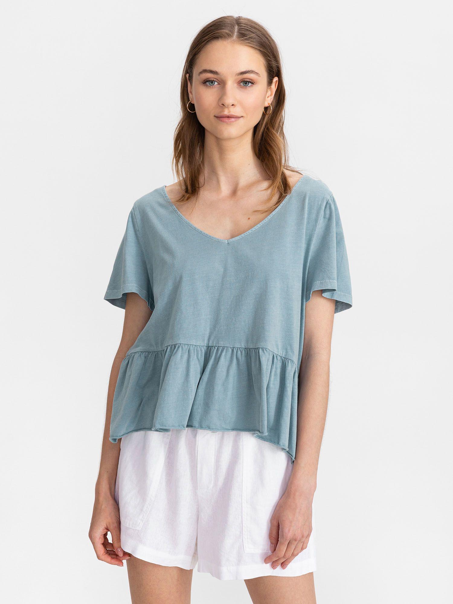 GAP blue T-shirt Vintage Peplum