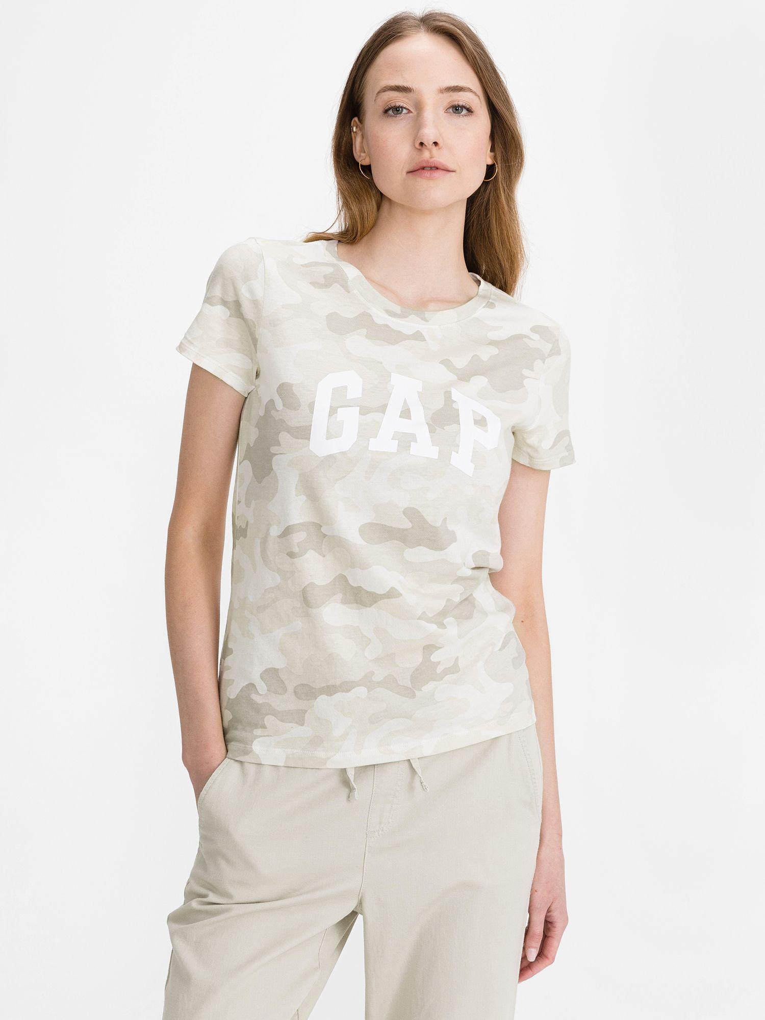 GAP cream / cream T-shirt Classic